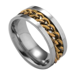 PREVIEW Stainless Steel Bronze Link Chain Ring